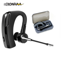 K6 Handsfree Business Bluetooth Headset Portable Bluetooth Earphone Connected To MP3 Storage Box