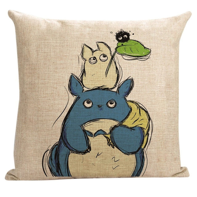 45x45Cm Vintage Totoro Pillows Cover (3 design)