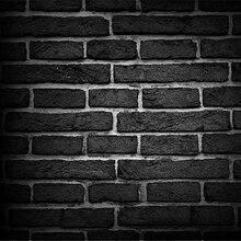 Preto Cinza Cinza pano de Computador impresso backdrops Vinil Fundo da parede de Pedra do Tijolo