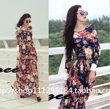 6aa9b30bc9 New Promotion Freeshipping Fashion 2014 Summer dress women clothing casual  dress Long Sleeve Lace Straight women dresses