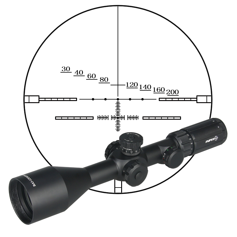 New Arrival BA 3-12X56FPSAL Rifle Scope FFP Scope For Outdoor Sport PP1-0299B high quality 6 25x56sff side foucs rifle scope pp1 0202