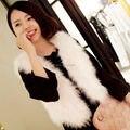 SJ003-01 Popular Worldwide Feather Jackets Vests/Fashionable Women Fur Vests Cheap