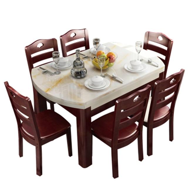US $4034.58 |Eet Marmol Dinning Tavolo Comedores Mueble Eettafel Set Tisch  Juego Tafel Wooden Comedor Mesa De Jantar Desk Bureau Dining Table-in ...