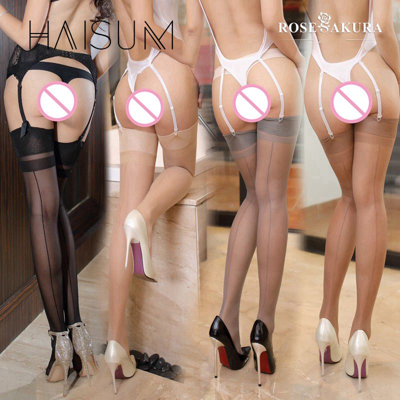 2018 Rushed New Haisum Back Seam Effect Womens Sexy Stockings Transparent Stocking Hose Pantyhose Leggings Meia Lingerie Hn78