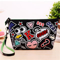Fashion  Envelope bags PU leather big eyes cluthes bags big mouth lip small bag