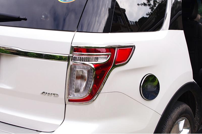 2pcs ABS Car Rear Tail Light Lamp Cover Trim For Ford Explorer 2011-2014 shivaki stv 48led15
