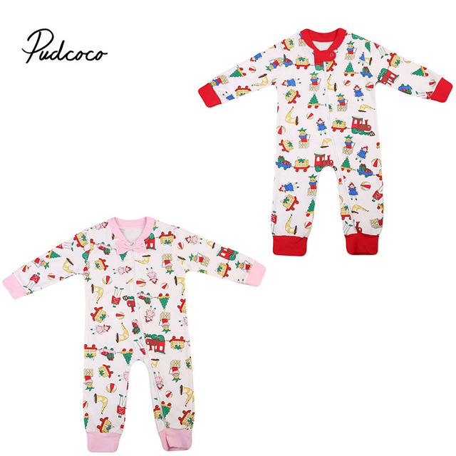 ea7c00f5d12 Babies Zipper Bow Tie Xmas Romper Newborn Baby Boys Girls Long Sleeve Rompers  Jumpsuit Outfits Christmas 0-24M Clothing