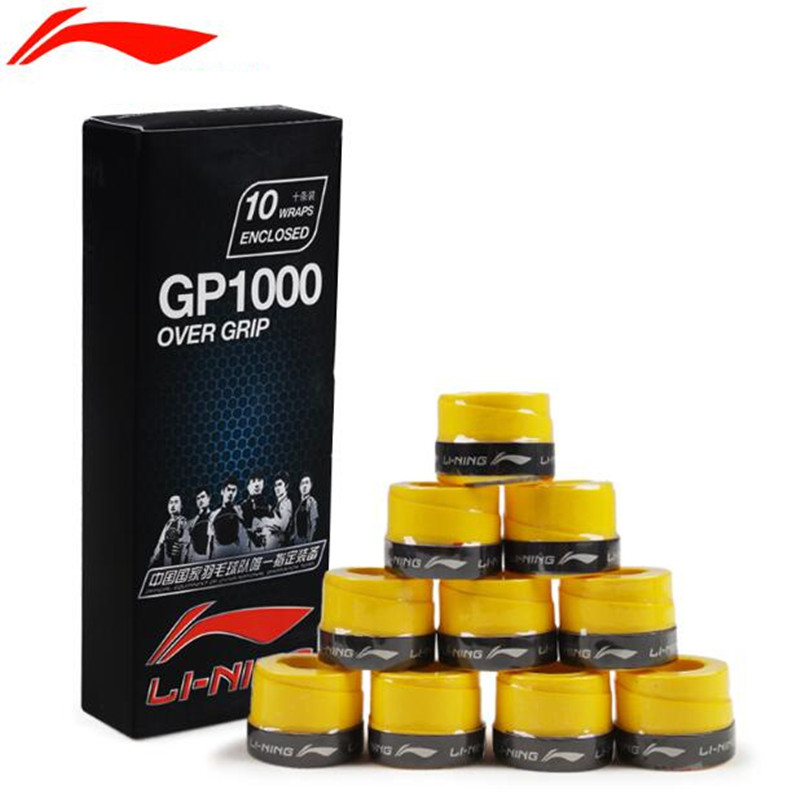 Li-Ning Thin Sticky Badminton Overgrip GP1000 Better Quality to YY 102C Tennis Grips Rackets Grips/Hand Glue Viscous L225-10OLB