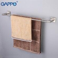 GAPPO настенный держатель для полотенец из нержавеющей стали вешалка для полотенец Держатель для полотенец двойные рельсы полки для хранения для ванной комнаты фурнитура