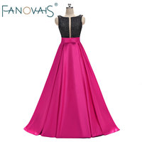 Black Crystals Prom Dresses robe paillette Vestido de festia rhinestone Sexy Prom gwons dresses Backless Beads Evening Gowns