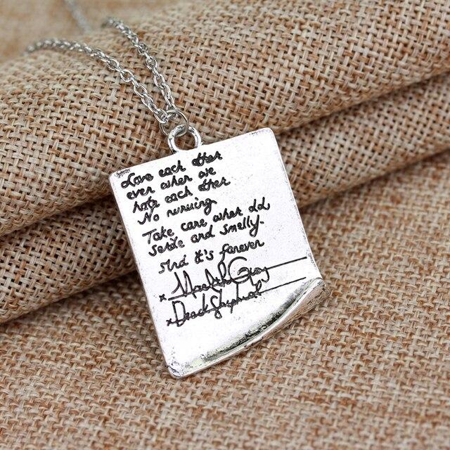 cbf984d792c MOCHUN Wholesale New Design Greys Anatomy Quote Friendship Necklace Person  Vintage Choker Necklace for Women Men Fans-30
