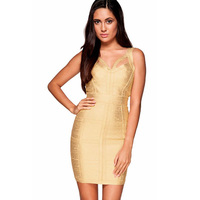 da16e26a3 2016 New Arrival Sexy Women Gold Quinceanera Dresses Special Occasion Short  Cocktail Prom Bodycon Party Bandage. 2018 verano Sexy mujeres ...