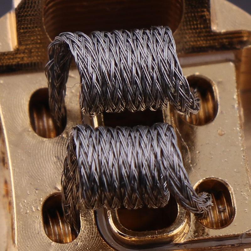 10pcs/box NEW XFKM NI80 Super Alien Prebuilt Coils Premade Coil For Electronic Cigarette RDA RTA RBA Atomizer Heating Wire
