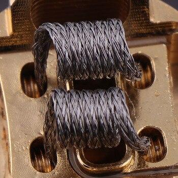 10pcs/box NEW XFKM NI80 Super alien Prebuilt Coils Premade Coil for Electronic Cigarette RDA RTA RBA Atomizer Heating Wire Маникюр