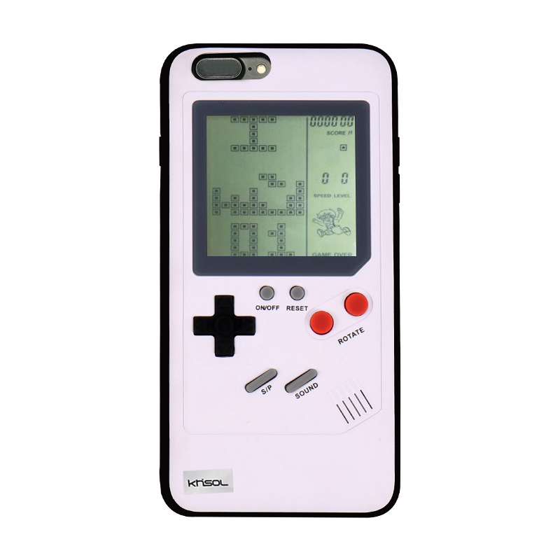 KHISOL Unique Design Game Phone Case for iPhone 8 7 6 6s Plus Classic Game Tetris Phone Case for iphone X Game TPU Back Cover
