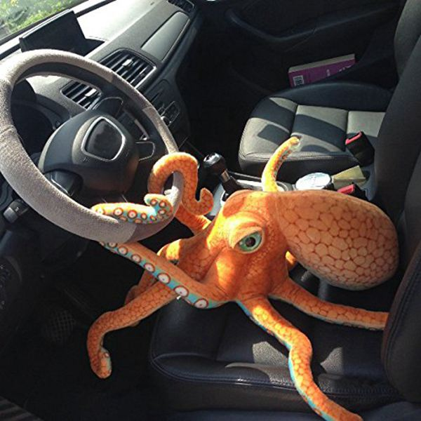 80CM Big Funny Cute Octopus Squid Stuffed Animal Soft Plush Toy Doll Pillow Decoration Gift cute 1pair 33cm funny stitch lovely plush car soft headrest vehicle bone rest neck pillow stuffed toy