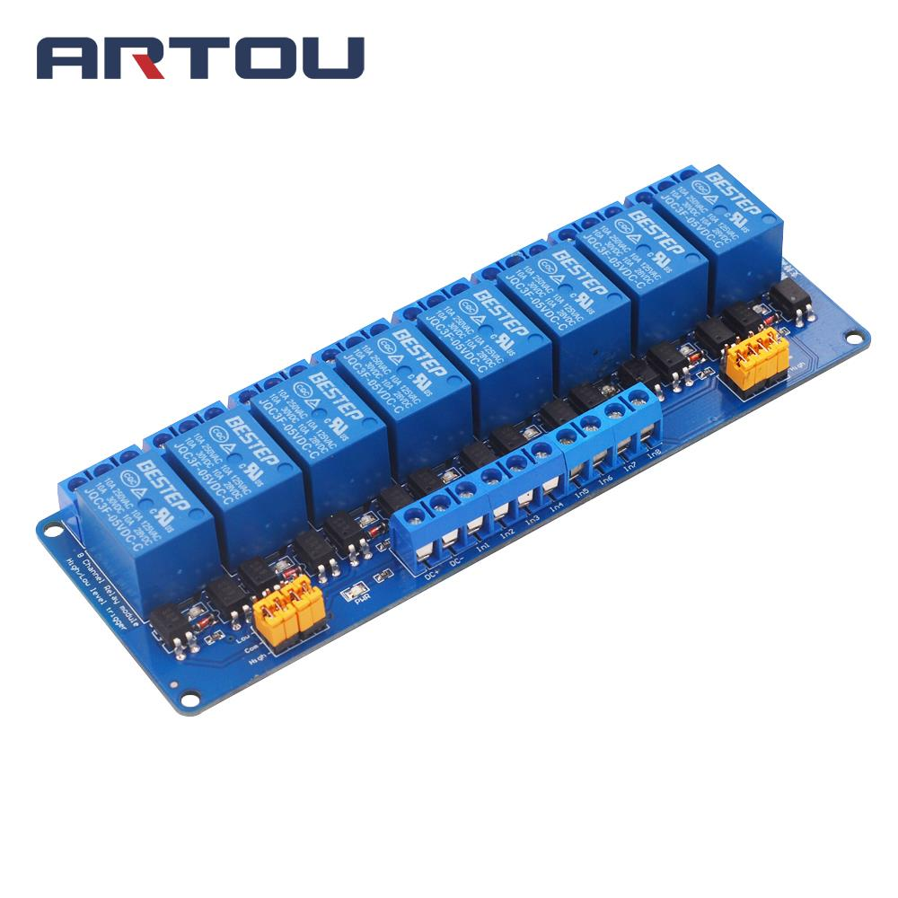 3.3V 5V 12V 24V 8 Channel Relay Module High and low Level Trigger Dual Optocoupler Isolation Relay Module3.3V 5V 12V 24V 8 Channel Relay Module High and low Level Trigger Dual Optocoupler Isolation Relay Module