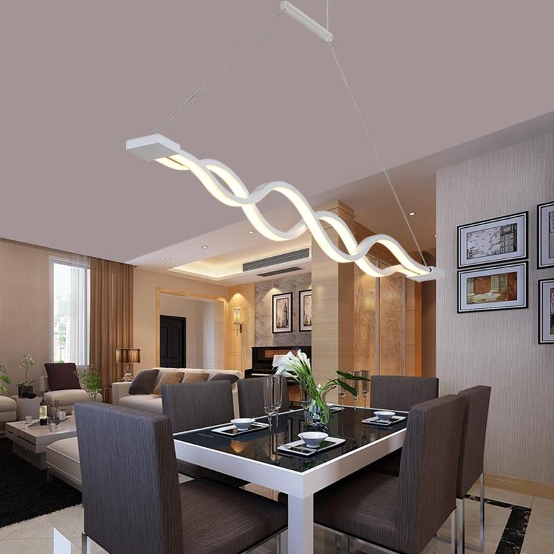 купить SinFull Fashion LED restaurant creative pendant lights modern minimalist office coffee bar lighting 90-260V suspension lamps онлайн