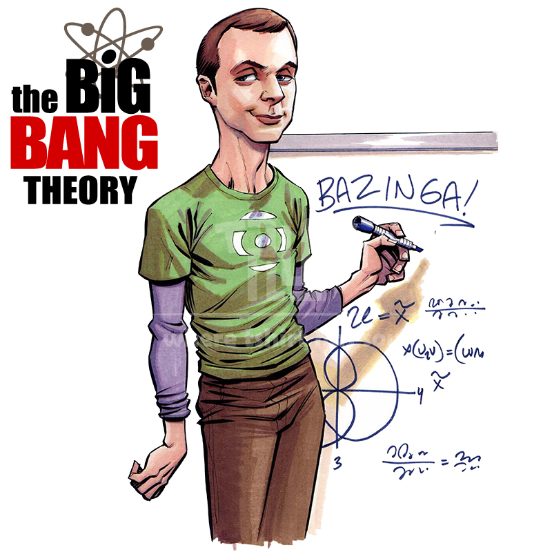TBBT big bang theory sheldon cooper men women t-shirt o-neck 100% 180gsm ringspun cotton ...