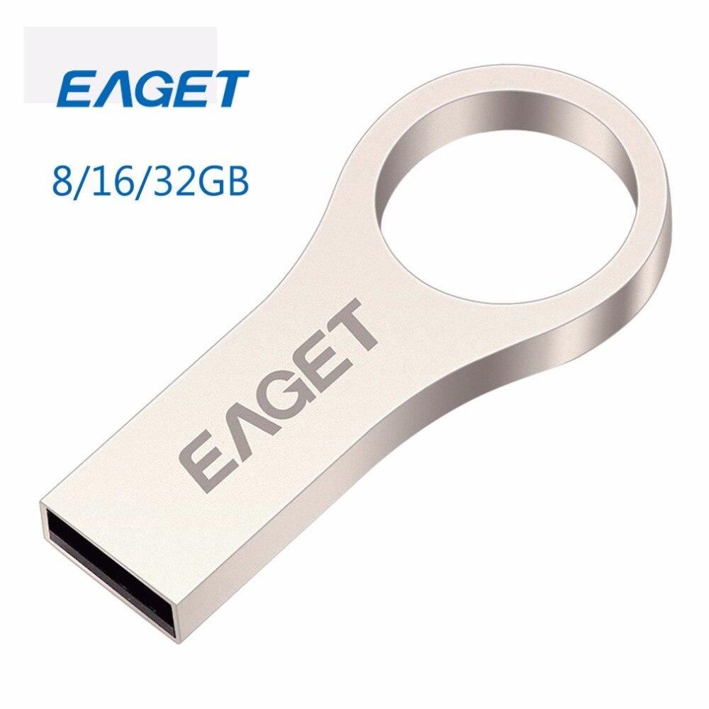 Original EAGET USB Flash Drive 32GB Pen Drive 16GB USB Key Ring Pendrive 8GB Flash Memory Stick Drive U Disk Storage Stick Fast