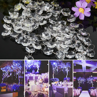 ASLT 33FT Crystal Clear Acrylic Bead Garland Chandelier Hanging Wedding Supplies