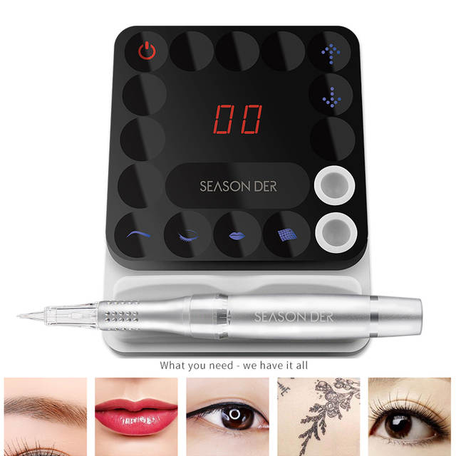 US $520 0 |Q7 Professional Eyebrow Rotary Tattoo Machine Pen For Permanent  Make Up Eyebrow Lip Microblading Makeup Kit With tatoo Needle-in Tattoo