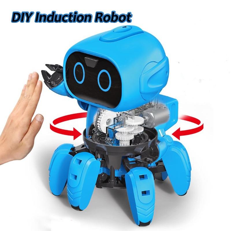 DIY Spider Robot Building Kits Assemble Educational Scientific Robot Toys Robot Spider Toys Kids Gift STEM Toy Toys & Games