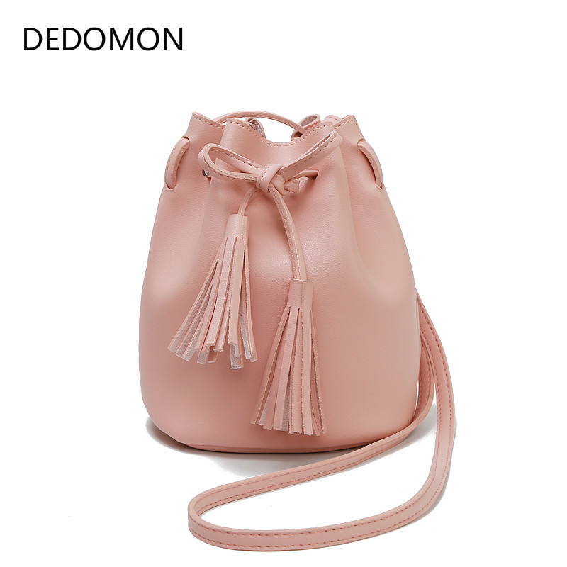 Women Bag Tassel Leather Cross Body Hasp Bags for Women 2018 Shoulder Retro Solid Color Fashion Drawstring Female Bags BorlaWomen Bag Tassel Leather Cross Body Hasp Bags for Women 2018 Shoulder Retro Solid Color Fashion Drawstring Female Bags Borla
