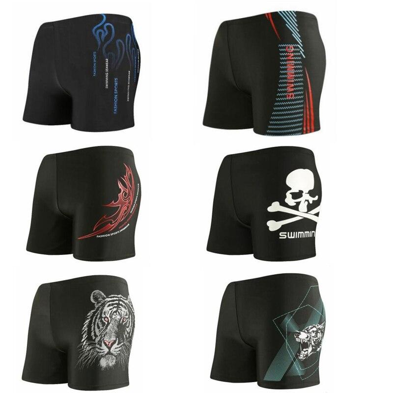 Qrxiaer Sunshine Beach Board Swimming   Short   Tiger Skull Print Quick Drying Pants Swim Sports Surffing Men Sunbath   shorts