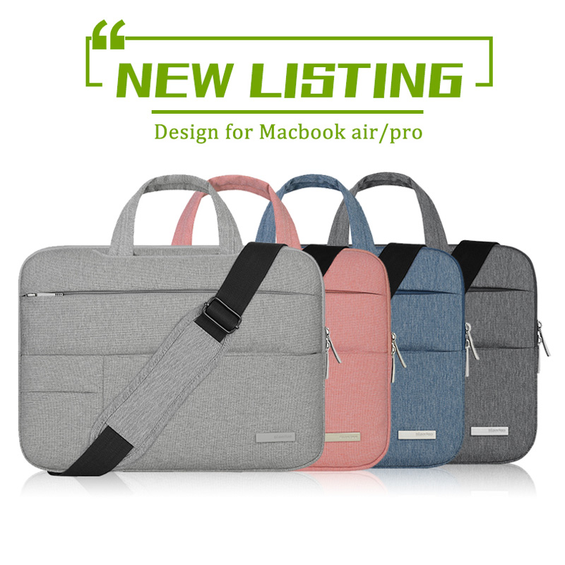 New Laptop Bag for Macbook air pro 13 Case 11 12 13.3 15 inch Laptop Shoulder Bag Case for Macbook retina touchbar 13 15 Solid