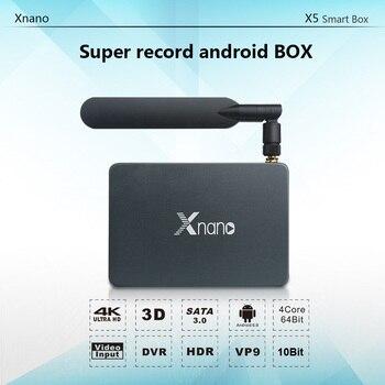 HD input and record X5 Xnano Android smart tv box 4k 2k 60fps DDR4 ram 1gb EMMC 8gb X5 Xnano global version xiaomi mi tv stick android tv 9 0 2k hdr dts hd dual decoding 1gb ram 8gb rom google assistant vs fire tv stick