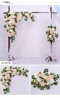 2018 Гессе Сельский свадебные декораций настенные украшения Искусственные цветок ряд арки шелка Роза Пион цветет стены