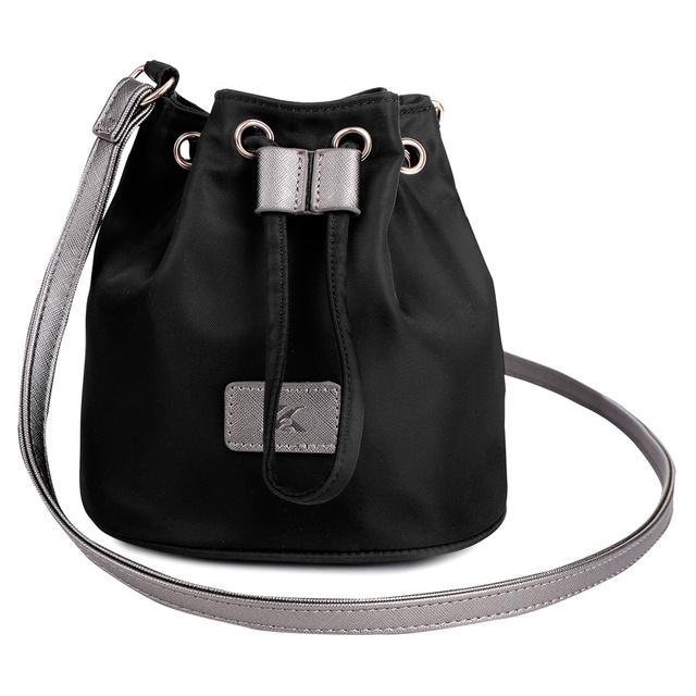 2016 New Small Women Messenger Bags Fashion Waterproof Nylon Bucket Bag  Ladies Handbag Black Crossbody Shoulder a6c8c51ec5b34