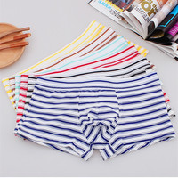 6PCS/Lot Ice Silk Boxers Shorts Striped Underpants Men Boxers Homme Calzoncillos Mens Boxer Hombre Man Underwear Panties