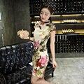 2017 Original Design Women Cheongsam Comfortable Chinese Tranditional Dress Qipao Collar Slim Mandarin Coat robe chinoise longue