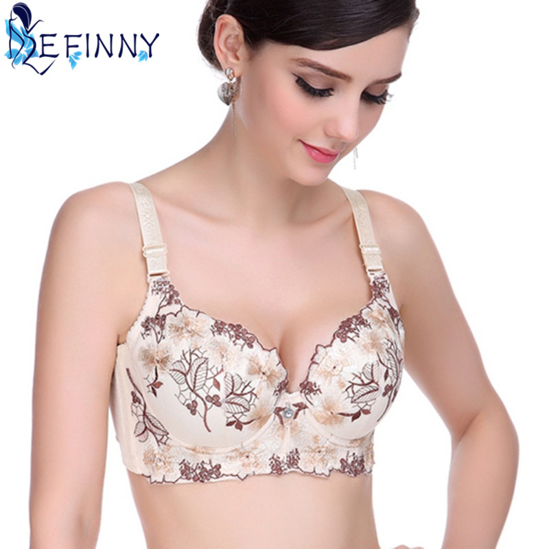 8fa4efc9abc45 2018 Newest Sexy Women Push Up Bra Thin Elegant Chinese Style Embroidery  Collection Breast Adjusting Lingerie BC Cup Underwear-in Bras from  Underwear ...