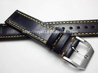 Handmade Genuine Leather Watchbands 20 21 22 mm Dark blue VINTAGE Wrist Watch Band Strap Belt Steel Pin Buckle for Omega Seiko