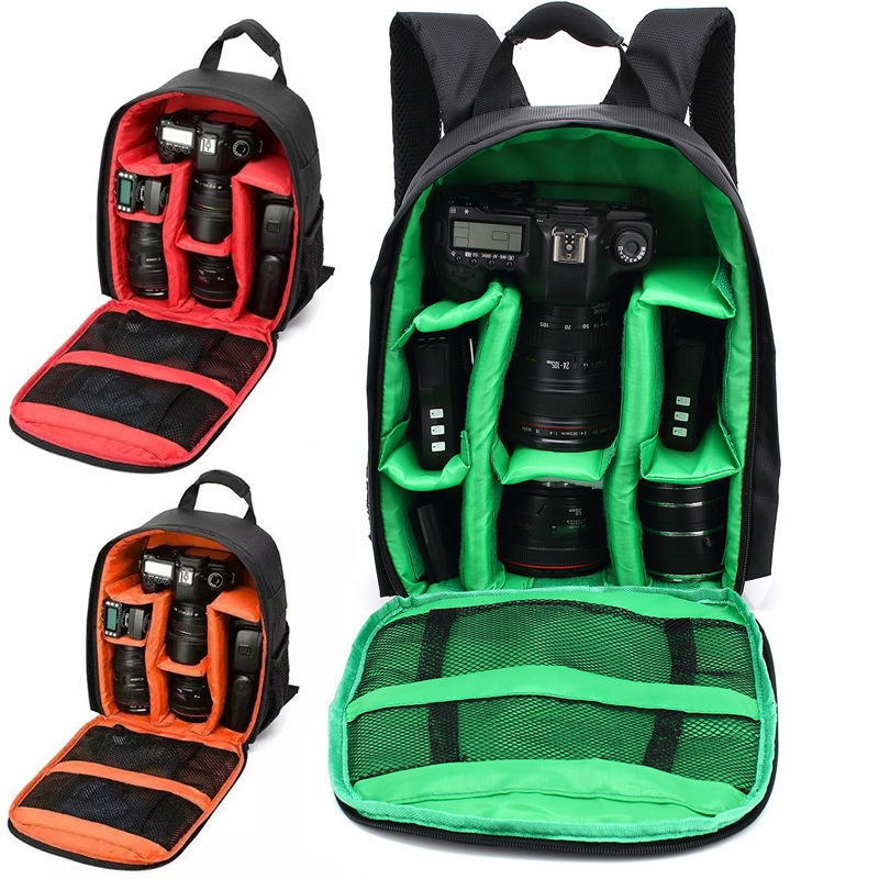 Hot sale 3 Colors Camera Backpacks Gifts High Quality Nylon Camera Bag Gift Camera Backpack Bag