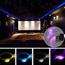 150 шт. 0,75 мм x 2 м RGB волоконно-оптический светильник s DIY светодиодный потолочный светильник со звездой Набор для украшения волоконно-оптический светильник