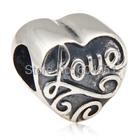 Gros 925 en argent Sterling Lovecharmlinks charms européenne coeur perles fit bricolage Bracelet bijoux