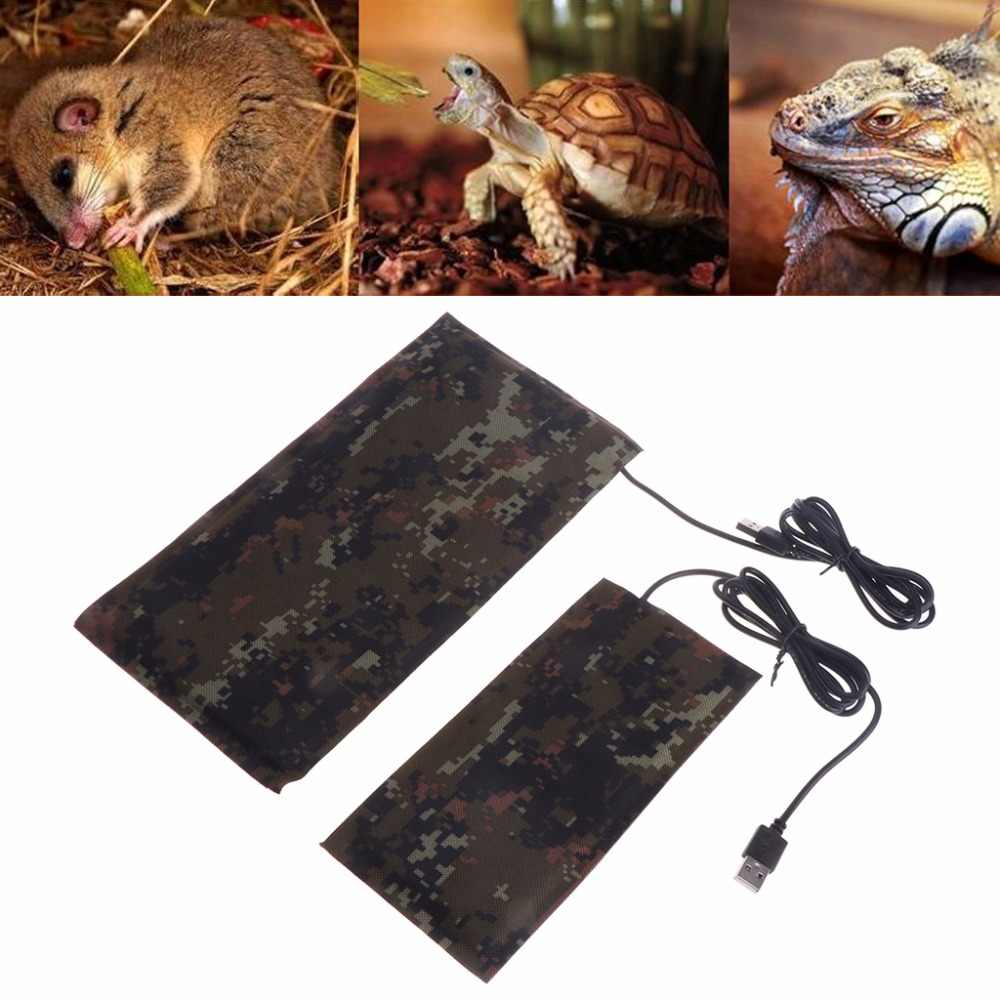 Pet USB Controller Heating Mat Pad 5W/7W Reptile Adjustable Warmer Constant Temperature Waterproof Bed for Turtle Snakes W20