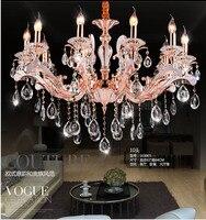 2017 hot selling Led candle holder Chandelier for Living Room Double Floor Restaurant Alloy Crystal Chandelier lighting lamparas