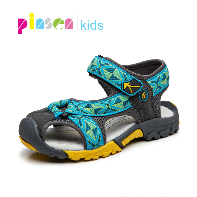 New Summer Kids Sandals For The Boy Breathable Casual Children Shoes Genuine Leather Cut-outs Boys Sandals 2018 flats shoes
