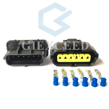 2 Sets 6 Pin 184060-1 Accelerator Pedal Connector Female Male Auto Gasoline Pump Plug For Ford KIA Hyundai Mitsubishi image