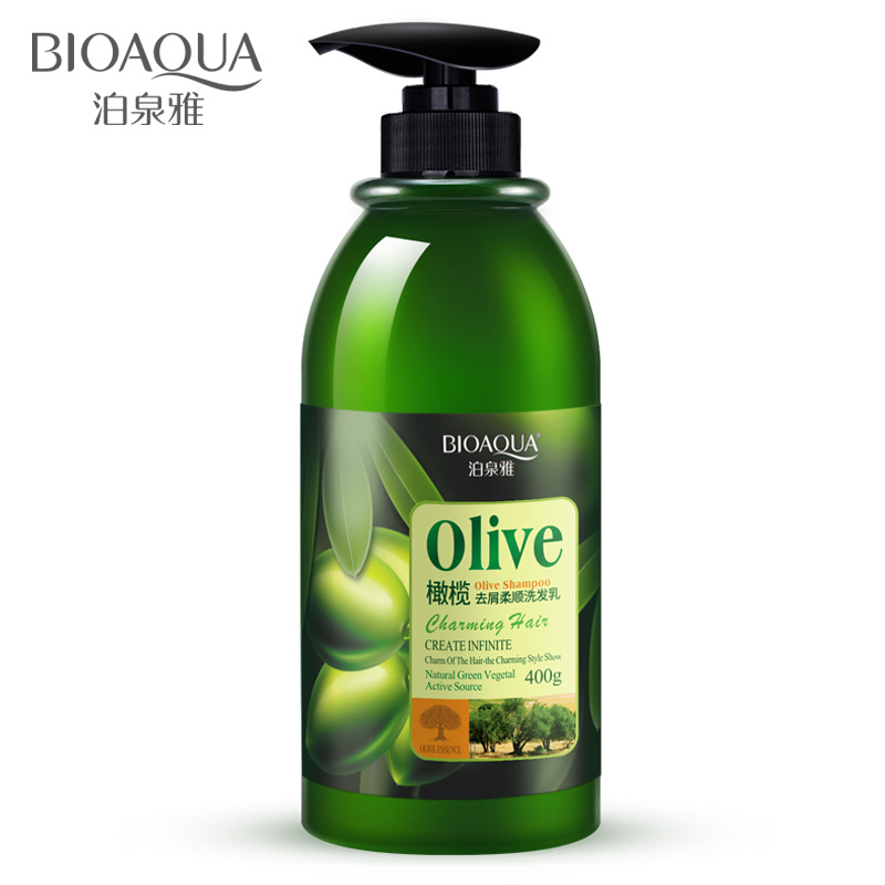 400ml BIOAQUA Olive Dandruff Supple Moisturizing Shampoo Hair Care Fresh Control Oil Shampoo Shampoo Man Female Hair Care