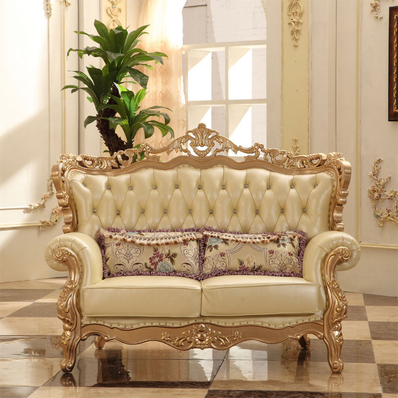 European Style Luxury Sofa Set Living Room Furniture From China Champagne  Gold 1+2+3