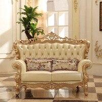 Style européen de luxe sofa sectionnel ensemble salon meubles de Chine Champagne Or 1 + 2 + 3 canapé muebles de sala divano