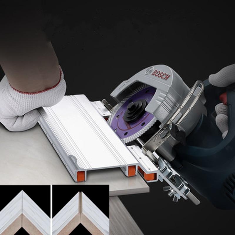 Image 2 - قابل للتعديل البناء 45 درجة الشطب القاطع حجر آلة قطع بلاط الرخام الشطب دليل محدد أدوات البناءمجموعات أدوات يدوية   -