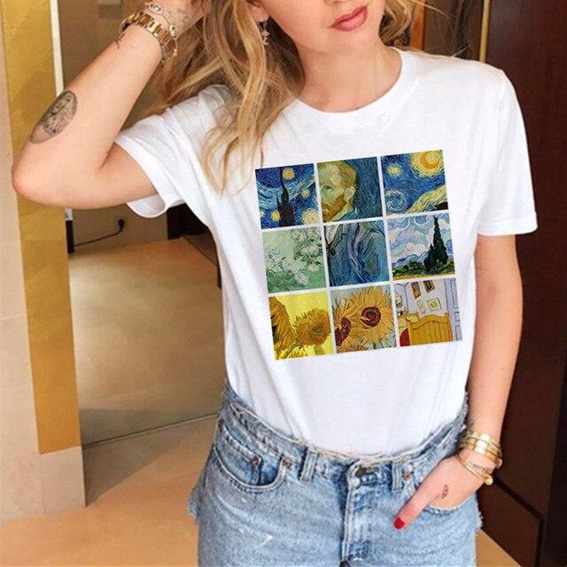 Women T Shirt Van Gogh Art...
