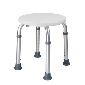 Image 1 - Adjustable Bath Tub Shower Chair 8 Height Bench Stool Seat with Non Slip Rubber Sole for Bathroom